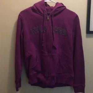 Purple Tommy Hilfiger hoddie